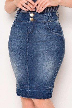 saia tradicional jeans barra desfeita laura rosa baixo