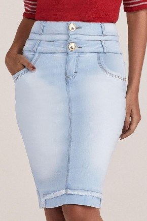 saia jeans azul claro cos diferenciado titanium jeans ttn24861 2