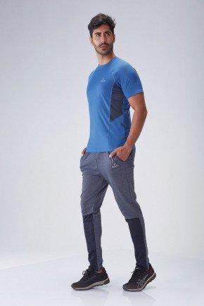 calca fitness masculina poliamida cinza detalhe dry fit protecao uv50 holyfit hf0505 frente
