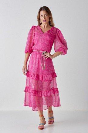 vestido pink evase com babados isabella cloa cl2238pk 1