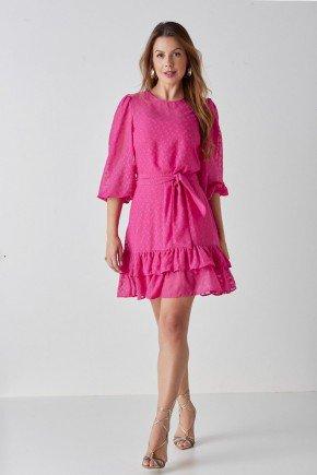 vestido pink com mangas bufantes alice cloa cl2236pk 8