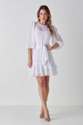 vestido branco com mangas bufantes alice cloa cl2236br 1