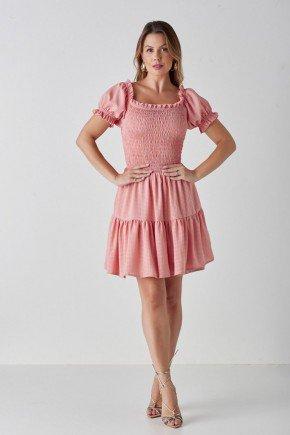 vestido rose ciganinha e babados leslie cloa cl2222ro 1