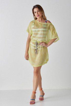 saida de praia amarela com cinto bella cloa cl2239am 1