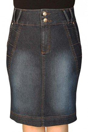 saia jeans escura secretaria com nervuras dyork jeans dy3654 1