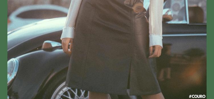 Looks com saia de couro para casamento: sofisticação e elegância
