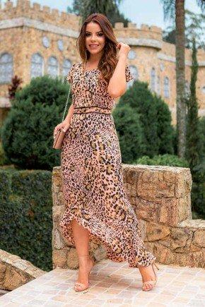 vestido longo animal print rose raje jeans rj18210a 4