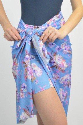 canga com shorts azul claro estampada uv50 maya lekazis sp0104 6