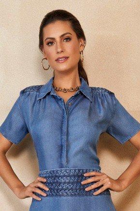 camisa jeans liocel com detalhes trancas titanium jeans ttn24943 7