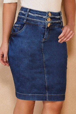 saia jeans cotton secretaria com 3 cos titanium jeans ttn25106 1
