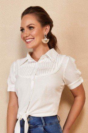 camisa off white manga curta com amarracao titanium jeans ttn25173 1