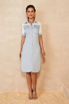 vestido chemise jeans sustentavel titanium jeans 1