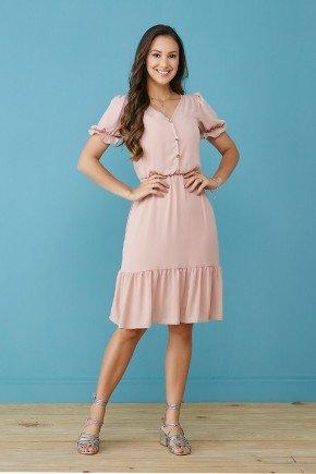 vestido rose debora com babados tata martello