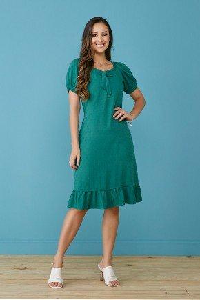 vestido verde soltinho com laco tata martello