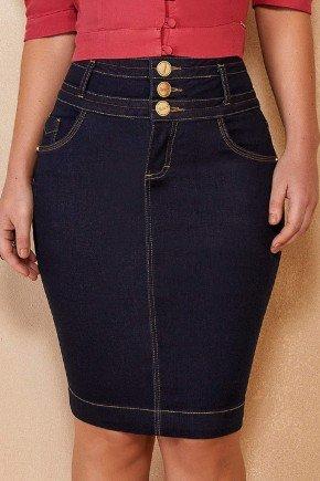 saia jeans azul marinho com 3 cos titanium jeans ttn25105 2