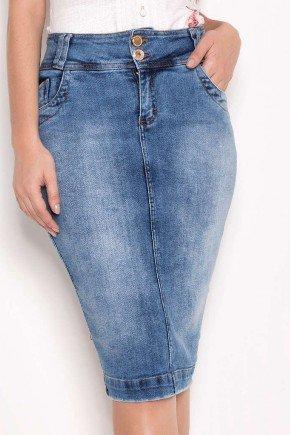 saia jeans tradicional azul laura rosa baixo