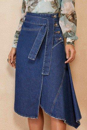 saia jeans evase assimetrica com amarracao titanium jeans ttn25110 1