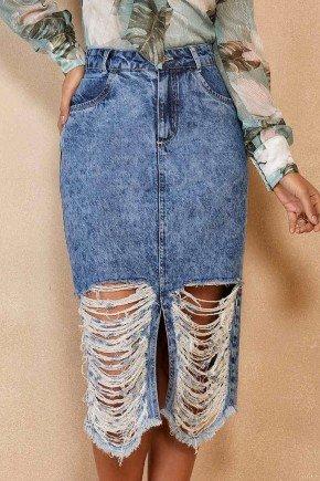 saia jeans midi destroyed rasgado com fenda titanium jeans ttn25513 1