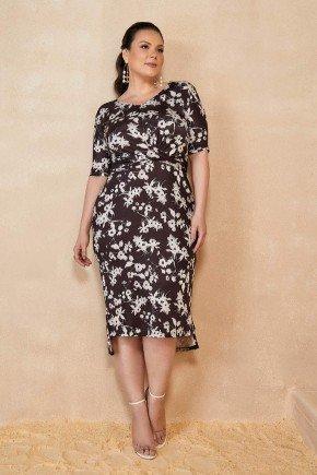 vestido preto estampa floral plus size titanium jeans ttn25252 1