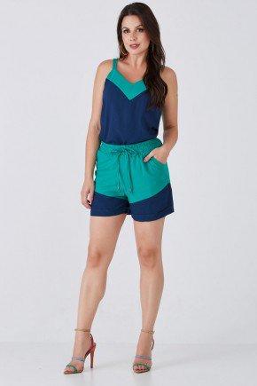 conjunto azul com verde bicolor cloa