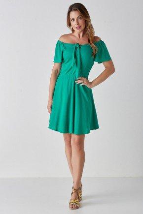 vestido evase verde ciganinha com amarracao ayla cloa