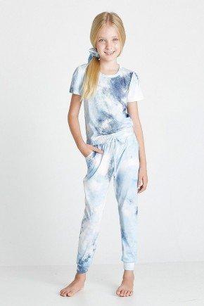 conjunto infantil tie dye azul bebe gabi cloa