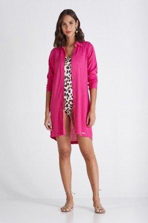 camisa feminina mangas longas pink helo cloa