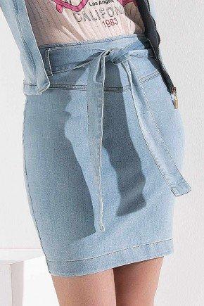 saia lapis jeans com amarracao imperio z baixo