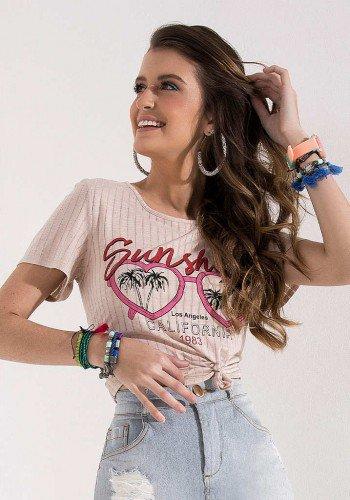 t shirt rosa estampa exclusiva imperio z cima