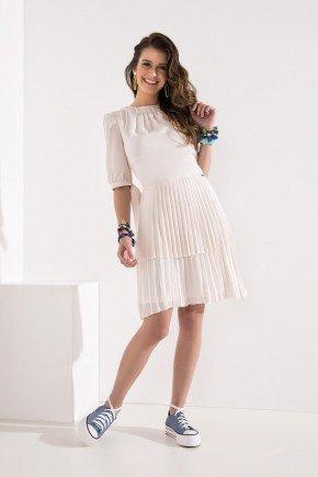 vestido off white plissado amarracao nas mangas imperio z