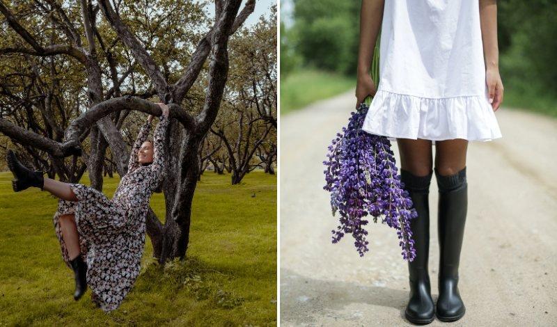 vestido com bota blog