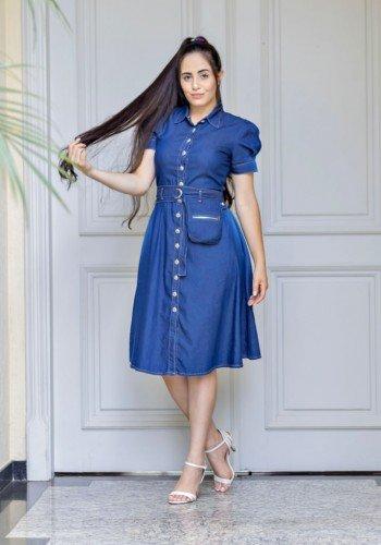 vestido lady like com pochete raje jeans