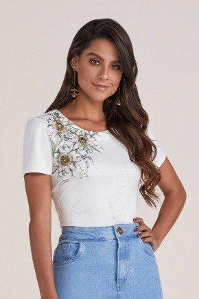 blusa branca bordada com pedrarias titanium jeans cima