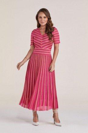 vestido rosa em malha retilinea titanium jeans