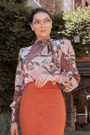 blusa estampa exclusiva gola laco jany pim