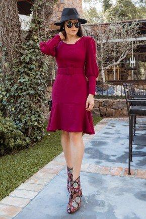 vestido eliana vinho manga longa jany pim