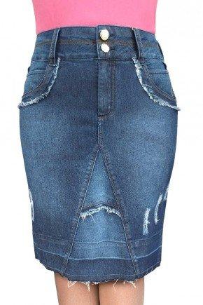 saia barra desmanchada e recortes desfiados dyork jeans