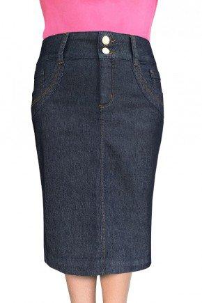 saia jeans escuro nowash dyork jeans