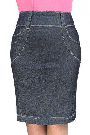 saia jeans marinho recortes nas laterais dyork jeans