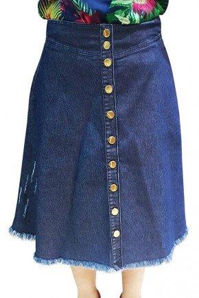 saia jeans gode abotoamento frontal dyork