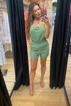 conjunto feminino verde cintura alta cloa
