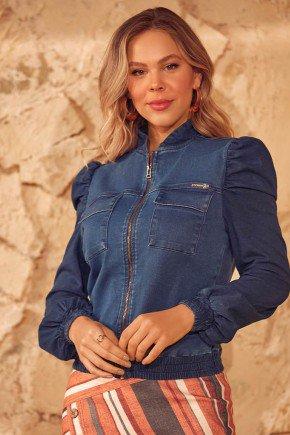 jaqueta bomber feminina jeans via tolentino