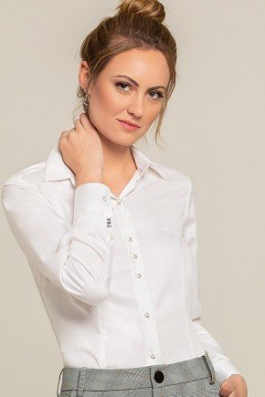 camisa social branca personalizada ava look