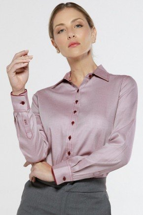 camisa social bordo personalizada frente
