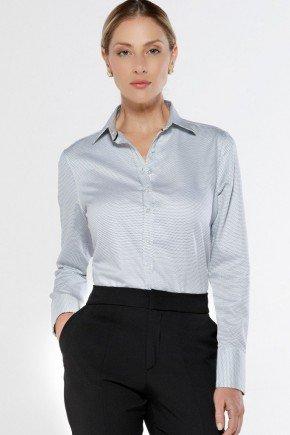 camisa social personalizada de poa francini look