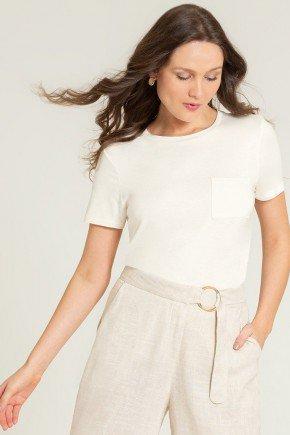 blusa de viscose off white valente frente