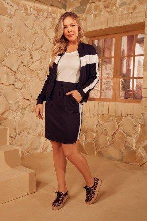 conjunto feminino jaqueta bicolor via tolentino