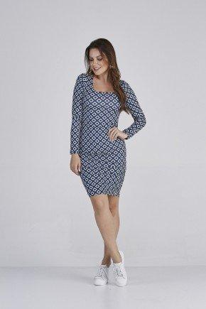 vestido touch azul 1