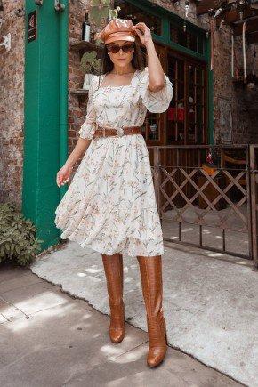 vestido gode em tule estampado jany pim