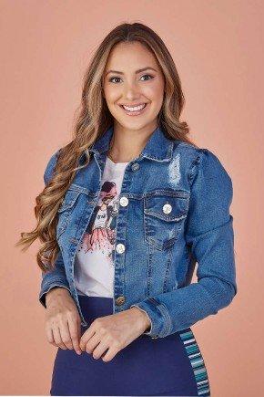 jaqueta feminina jeans destroyed tata martello